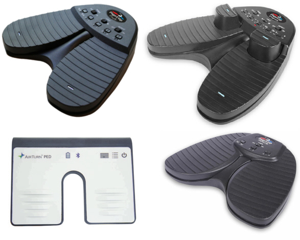 Hardware: foot pedals, monitor stands, tablet mounts